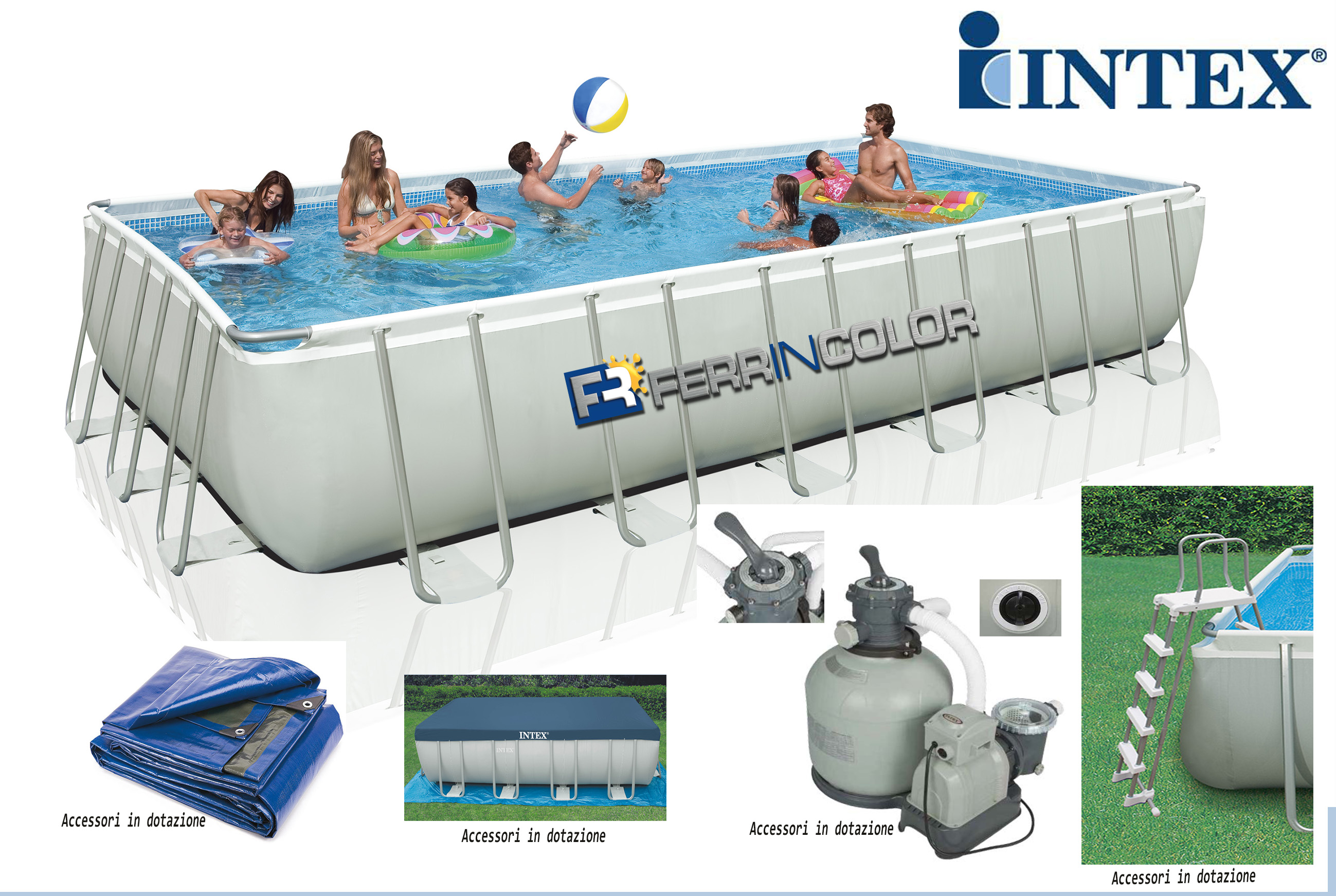 Piscina intex in offerta732x366x132h modello 2017 for Intex piscine ricambi