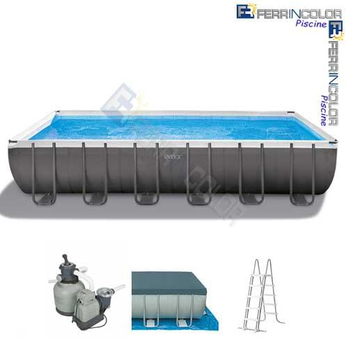 Intex piscina ultraframe 732x366x132 26362 ferrincolor for Accessori piscine intex