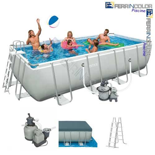 Intex piscina ultraframe 457x274x122 28348 access for Piscine in offerta