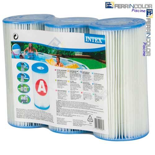 Intex cartuccia filtro media i 6 pz 3 29003 ferrincolor for Prodotti intex