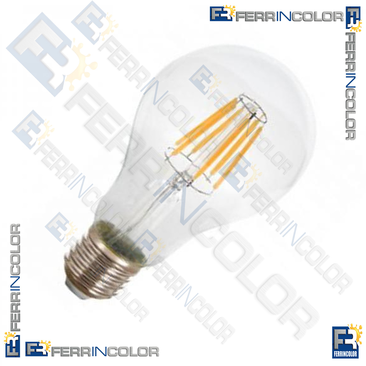 lampada led e27 10w 75w bulb a67 filamento 4000k ferrincolor. Black Bedroom Furniture Sets. Home Design Ideas