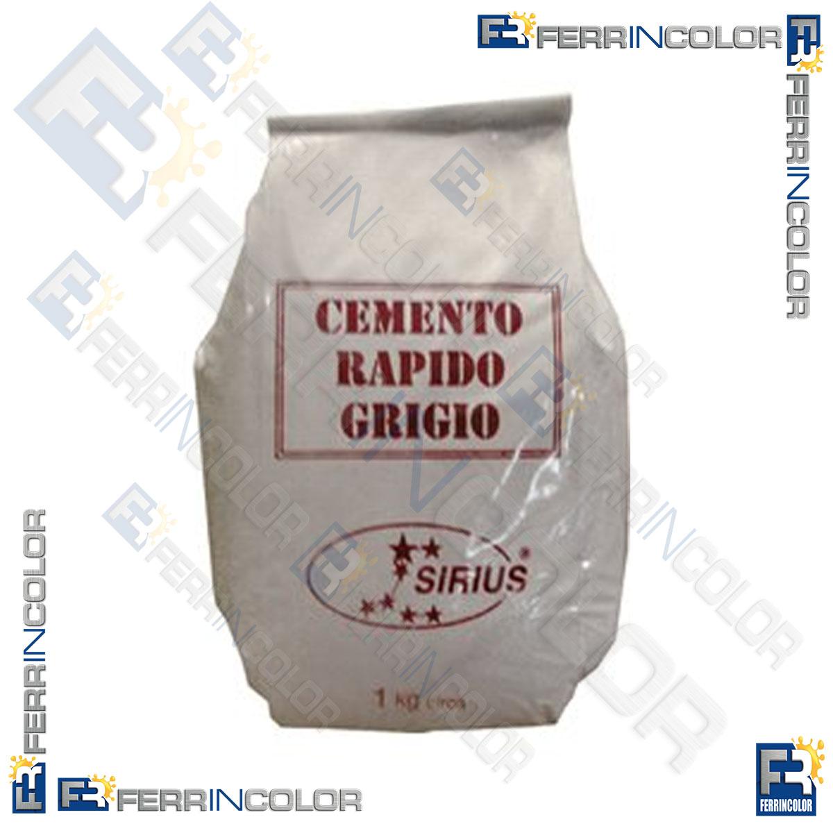 Cemento rapido grigio kg 1 ferrincolor - Cemento rapido precio ...