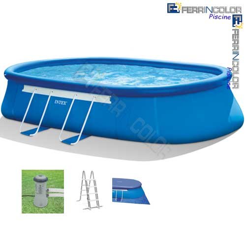 Intex piscina ovale 610x366x122 26194 c accessori - Accessori piscine intex ...